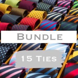 Other - Bundle Designer Neck Ties - Lot of 15